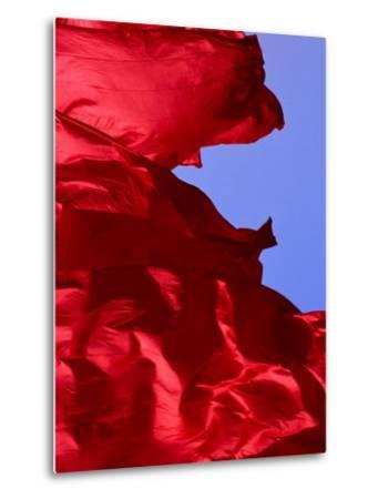Red Flags Over Tiananmen Square Bejing, China-Phil Weymouth-Metal Print