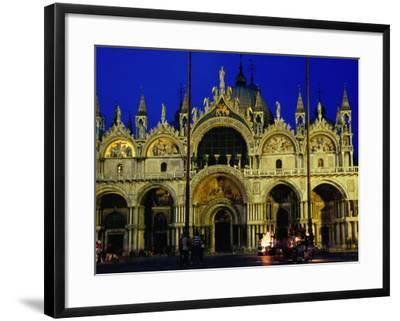 Night View of the Basilica Di San Marco, Venice, Veneto, Italy-Glenn Beanland-Framed Photographic Print