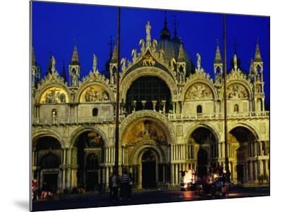 Night View of the Basilica Di San Marco, Venice, Veneto, Italy-Glenn Beanland-Mounted Photographic Print