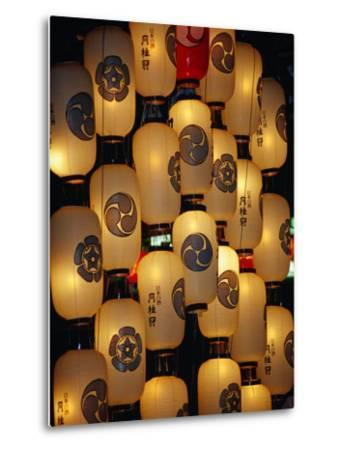 Festival Lanterns for Gion Matsuri, Kyoto, Kinki, Japan,-Frank Carter-Metal Print