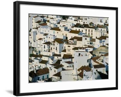 Whitewashed Village Houses of Casares, Clinging to Steep Hillsides, Malaga, Andalucia, Spain-David Tomlinson-Framed Photographic Print