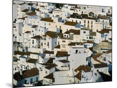 Whitewashed Village Houses of Casares, Clinging to Steep Hillsides, Malaga, Andalucia, Spain-David Tomlinson-Mounted Photographic Print