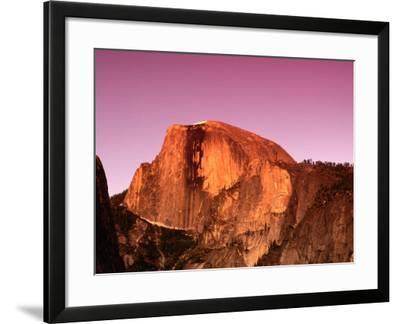 Half Dome Rock at Sundown, Yosemite National Park, California, USA-Thomas Winz-Framed Photographic Print