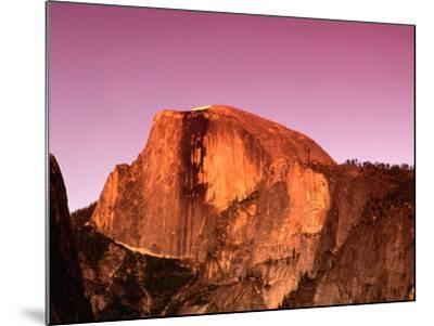 Half Dome Rock at Sundown, Yosemite National Park, California, USA-Thomas Winz-Mounted Photographic Print