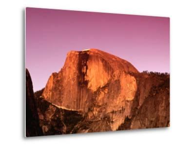 Half Dome Rock at Sundown, Yosemite National Park, California, USA-Thomas Winz-Metal Print