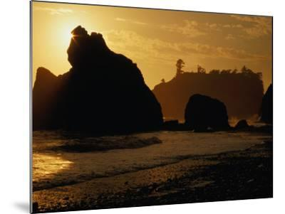 Ruby Beach at Sunset, Olympic National Park, USA-Nicholas Pavloff-Mounted Photographic Print