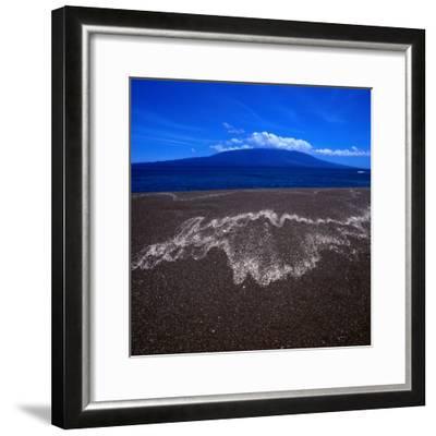 Black Volcanic Sand Beach on Isla Fernandina, Isla Fernandina, Galapagos, Ecuador-Wes Walker-Framed Photographic Print
