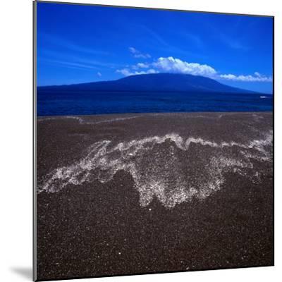 Black Volcanic Sand Beach on Isla Fernandina, Isla Fernandina, Galapagos, Ecuador-Wes Walker-Mounted Photographic Print