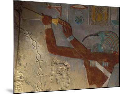 God Thoth Purifying Hetsheput at the Karnak Temple, Egypt-Claudia Adams-Mounted Photographic Print
