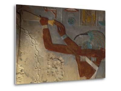 God Thoth Purifying Hetsheput at the Karnak Temple, Egypt-Claudia Adams-Metal Print
