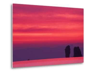 Pink Sky Reflected in Sea With Karst Islands, Phang Nga Bay, Thailand-John & Lisa Merrill-Metal Print