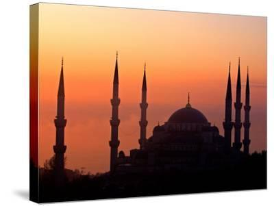 Sunrise Over the Blue Mosque, Istanbul, Turkey-Joe Restuccia III-Stretched Canvas Print
