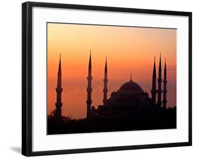 Sunrise Over the Blue Mosque, Istanbul, Turkey-Joe Restuccia III-Framed Photographic Print