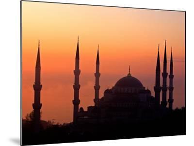 Sunrise Over the Blue Mosque, Istanbul, Turkey-Joe Restuccia III-Mounted Photographic Print