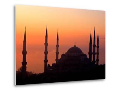Sunrise Over the Blue Mosque, Istanbul, Turkey-Joe Restuccia III-Metal Print