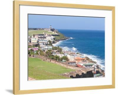 View towards El Morro from Fort San Cristobal in San Juan, Puerto Rico-Jerry & Marcy Monkman-Framed Photographic Print