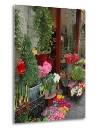 Florist in Ile St. Louis, Paris, France-Lisa S^ Engelbrecht-Metal Print