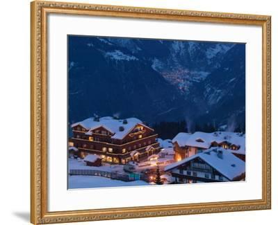 View of Town and Le Croisette Area, Courchevel 1850, French Alps, Savoie, France-Walter Bibikow-Framed Photographic Print