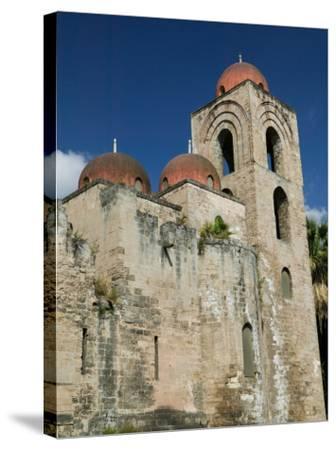 Domes of the San Giovanni degli Eremiti Church, Palermo, Sicily, Italy-Walter Bibikow-Stretched Canvas Print