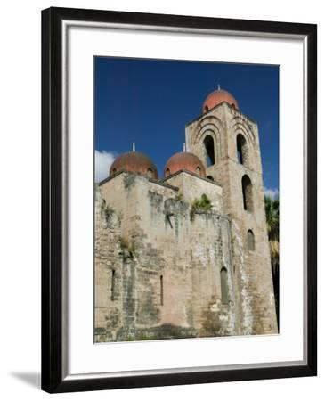 Domes of the San Giovanni degli Eremiti Church, Palermo, Sicily, Italy-Walter Bibikow-Framed Photographic Print