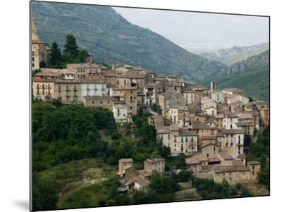 Mountain Town, Anversa di Abruzzi, Abruzzo, Italy-Walter Bibikow-Mounted Photographic Print