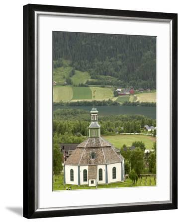 Sofar Fron Octagonal Stone Church, Laggen River Valley, Ringebu, Norway-Russell Young-Framed Photographic Print