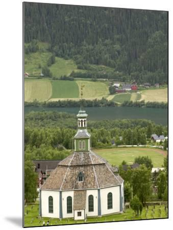 Sofar Fron Octagonal Stone Church, Laggen River Valley, Ringebu, Norway-Russell Young-Mounted Photographic Print