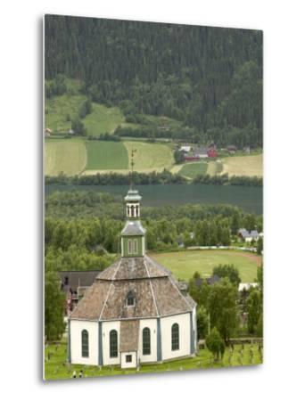 Sofar Fron Octagonal Stone Church, Laggen River Valley, Ringebu, Norway-Russell Young-Metal Print