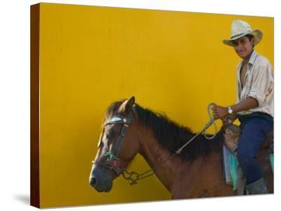 Man on Horseback, Honduras-Keren Su-Stretched Canvas Print