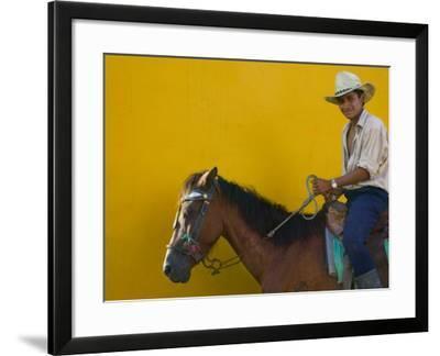 Man on Horseback, Honduras-Keren Su-Framed Photographic Print
