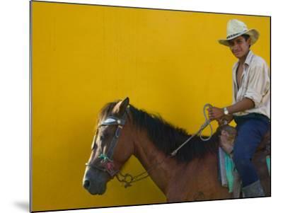 Man on Horseback, Honduras-Keren Su-Mounted Photographic Print