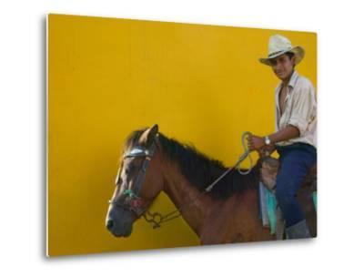 Man on Horseback, Honduras-Keren Su-Metal Print