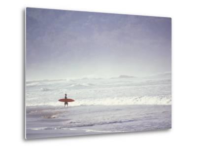 Cocoa Beach Surfer, Florida, USA-Stuart Westmoreland-Metal Print