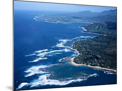 Hanalei Bay and the Distant Princeville Hotel, Kauai, Hawaii, USA-Charles Sleicher-Mounted Photographic Print