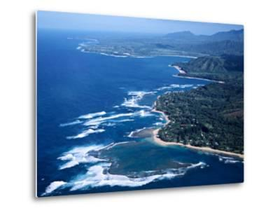 Hanalei Bay and the Distant Princeville Hotel, Kauai, Hawaii, USA-Charles Sleicher-Metal Print