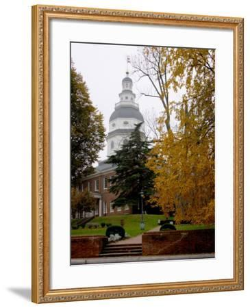 State House 1772-1779, and US Capitol from 1783 to 1784, Maryland, USA-Scott T^ Smith-Framed Photographic Print