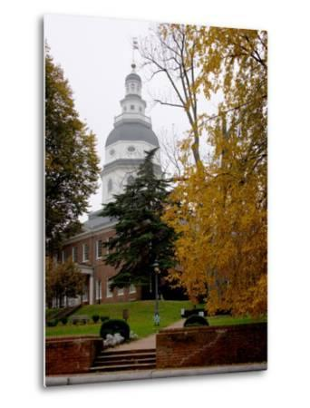 State House 1772-1779, and US Capitol from 1783 to 1784, Maryland, USA-Scott T^ Smith-Metal Print