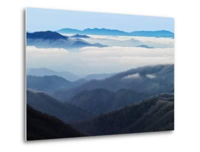 Winter View of Thomas Divide, Great Smoky Mountains National Park, North Carolina, USA-Adam Jones-Metal Print