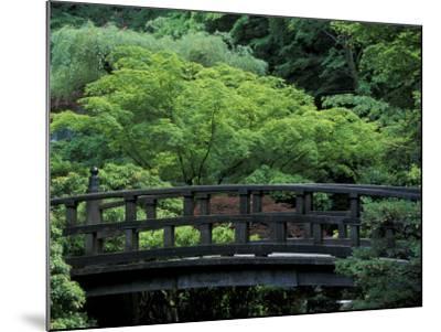 Footbridge in Japanese Garden, Portland, Oregon, USA-Adam Jones-Mounted Photographic Print