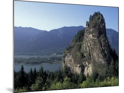 View of Beacon Rock on the Columbia River, Beacon Rock State Park, Washington, USA-Connie Ricca-Mounted Photographic Print