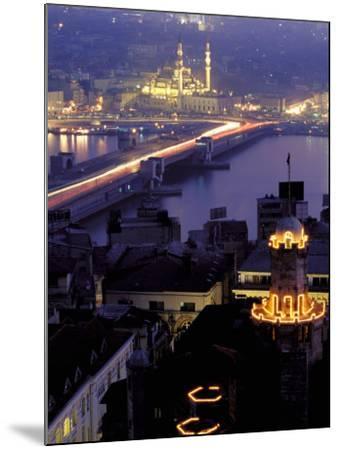 Yeni Mosque and the Galata Bridge, Istanbul, Turkey-Ali Kabas-Mounted Photographic Print