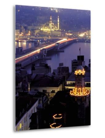 Yeni Mosque and the Galata Bridge, Istanbul, Turkey-Ali Kabas-Metal Print