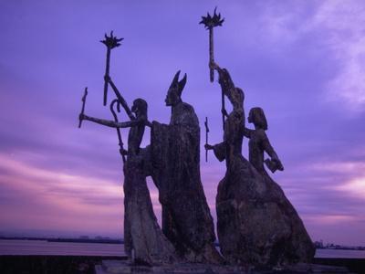 Bogativa Statue, San Juan, Puerto Rico-Greg Johnston-Framed Photographic Print