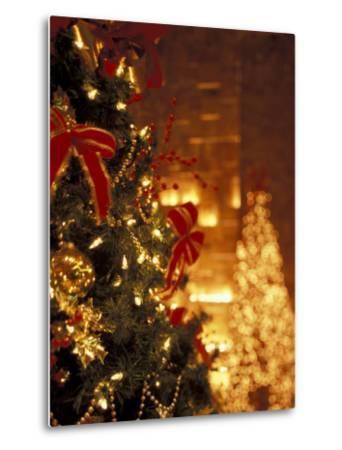 Christmas Decor at Trump Tower, New York, New York, USA-Michele Westmorland-Metal Print