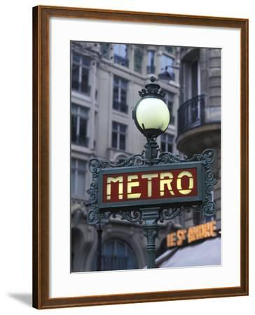 Metro Signage in Paris, France-Bill Bachmann-Framed Photographic Print
