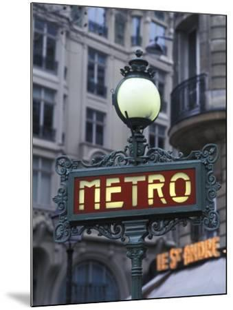 Metro Signage in Paris, France-Bill Bachmann-Mounted Photographic Print