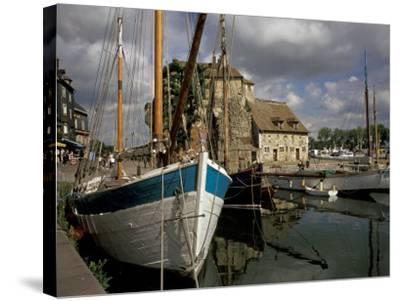 Old Port, Honfleur, Normandy, France-David Barnes-Stretched Canvas Print