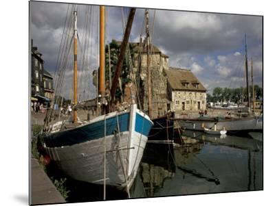 Old Port, Honfleur, Normandy, France-David Barnes-Mounted Photographic Print
