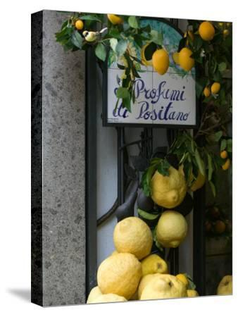 Lemons, Positano, Amalfi Coast, Campania, Italy-Walter Bibikow-Stretched Canvas Print