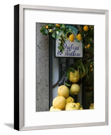 Lemons, Positano, Amalfi Coast, Campania, Italy-Walter Bibikow-Framed Photographic Print